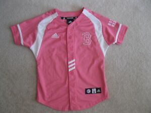 Girl's Adidas Boston Red Sox Baseball Jersey