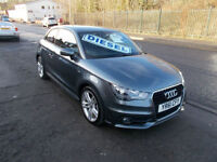 AUDI A1 S LINE TDI DIESEL 3 DOOR ZERO RFL ALLOYS BLUETOOTH FSH 2011-61