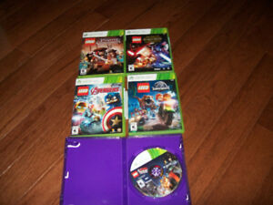 lot of 5 xbox 360 lego games