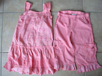 Girls naartjie size 5 matching 4 piece outfit