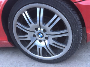 Bmw 19 inch polish e46 m3 rims and tires