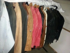 LOT BUY ! 15 LEATHER JACKETS MEN'S & LADIES