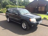 2000 Jeep Grand Cherokee 4.0 limited. 12 months mot . 1 owner from new. 4x4 auto towbar