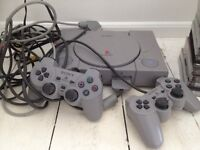 Play station one and games bundle