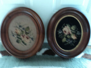 Two Vintage Needlepoint Pictures