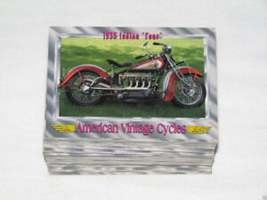 1993 CHAMPS AMERICAN VINTAGE CYCLES  I Complete Trading Card Set