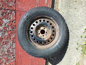 Snow tires on rims for sale