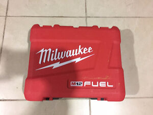 "Milwuakee M12 Fuel 1/4"" Hex Impact Driver Case Only"