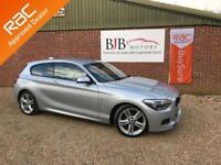 2014 14 BMW 1 SERIES 2.0 118D M SPORT 3D 141 BHP DIESEL SILVER METALLIC 41K