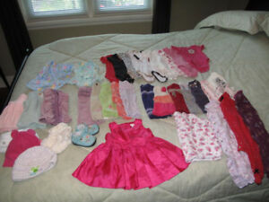 Girls Baby Clothing - 6-9 Months - New & Used! - Box Full $70