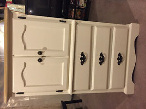 Refinished solid wood armour dresser