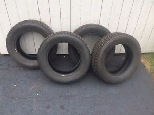 Four Uniroyal Tiger Paw Winter Tires