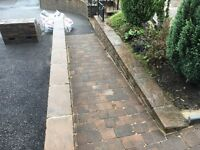 Block paving and fencing