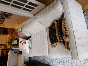 2 Piece Fabric Couch - Great for condo