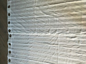 White Gromet Curtains