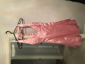 Formal pink halter dress