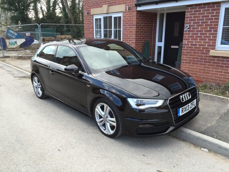 2013 audi a3 s line 2 0 tdi 150 black damaged repaired. Black Bedroom Furniture Sets. Home Design Ideas