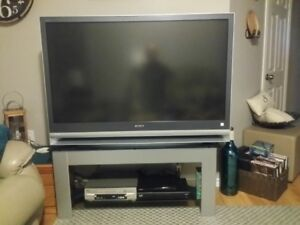 """50"""" Sony LCD Projection TV and stand for sale"""