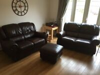 *PRICE LOWERED FOR QUICK SALE* Lovely 3-piece Leather Sofa Set