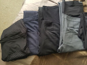 Maternity Clothing - Pants (sizes S & M) 7 pieces