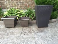 Three Strong  Flower Pots - Perfect Condition