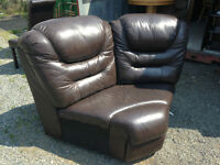 Leather Corner Chair/Couch