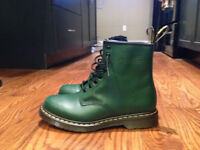 Brand Spanking New Dr. Martens Green Ankle Boots - Sz 11 Womens