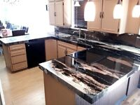 Get a granite look at the price of laminate countertops