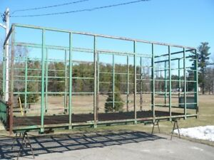 steel bale thrower rack