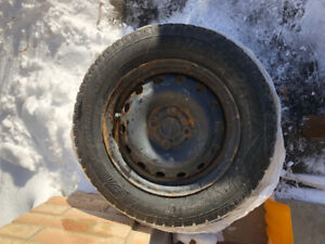 """Snow tires with 14"""" steel rims 185/65R14 (4) $50"""
