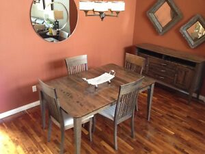 Canadian made solid wood dining suite