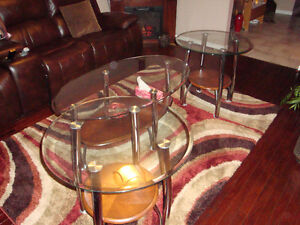 1 set  coffee table with 2 end table