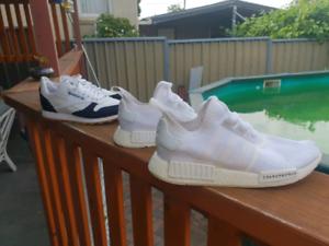 Adidas Triple white NMD Japan & Reebok classics