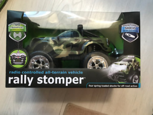 New in Box, Rally Stomper Radio controlled All terrain toy truck