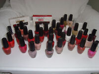 Assorted bottles of Nail Polish