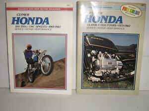 Motor Cycle manuals Honda & Yamaha 1963 TO 1982