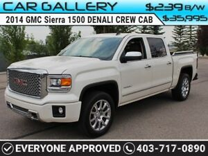 2014 GMC Sierra 1500 DENALI CREW CAB w/Leather, Navi, BackUp Cam