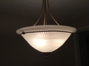 Beautiful frosted glass light!
