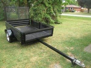 Tilting 4.5 ft by 6 ft Trailer with Ramp For Sale