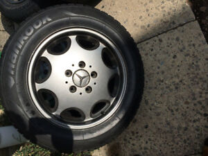 "OEM 15"" Benz Rims and Hankook Tires 5x112 ALL SEASONS"