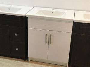 "24""Vanity Top and Vanity  (White)"