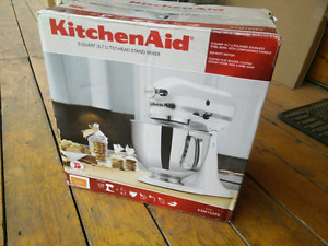 Kitchen Aid stand mixer in Tangerine colour