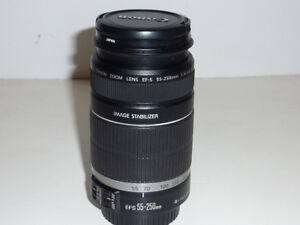 canon EFS 55-250mm F3.5-5.6 IS lens