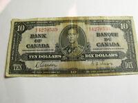 VIEILLE MONNAIE $10.00 1937