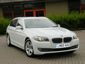 2010 60 REG BMW 520d 2.0 AUTO SE TOURING IN ALPINE WHITE WITH HIGH SPEC!