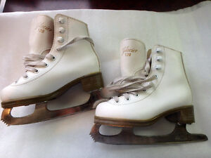 Glacier 120 tots/youth Girls Figure Skates - White