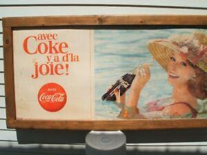 AFFICHE PUBLICITAIRE ANTIQUE COKE, COCA-COLA 1960'S