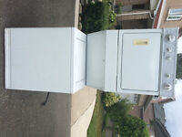 White Kenmore stackable washer and dryer excellent working