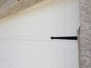 REDUCED PRICE of OVERHEAD SINGLE GARAGE DOOR TWO WHITE PANELS OV