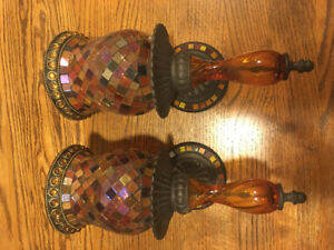 Stained glass wall sconces